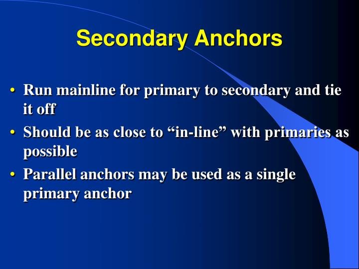 Secondary Anchors