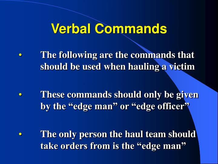 Verbal Commands