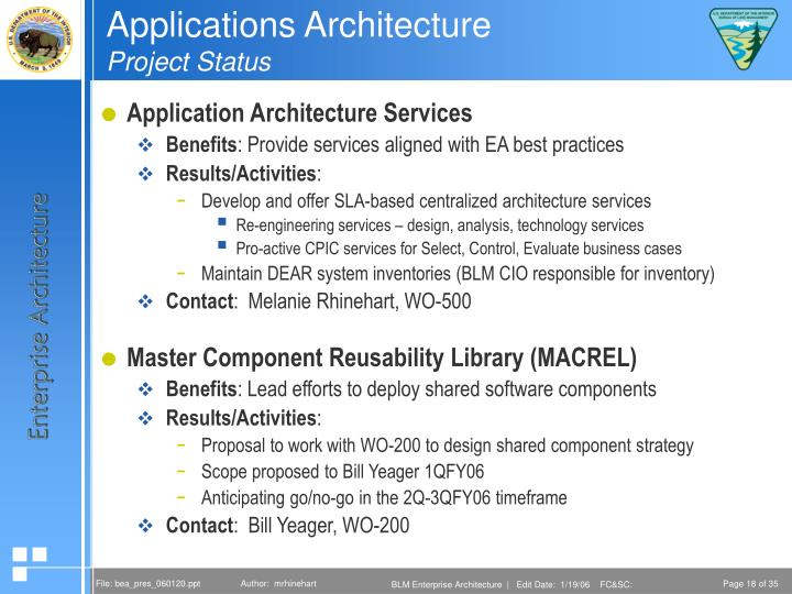 Applications Architecture