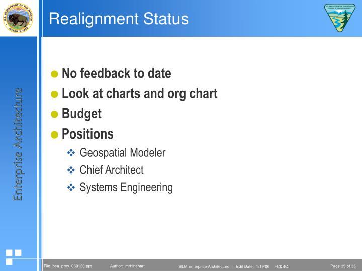 Realignment Status