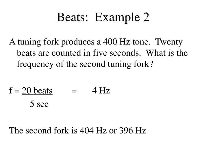 Beats:  Example 2