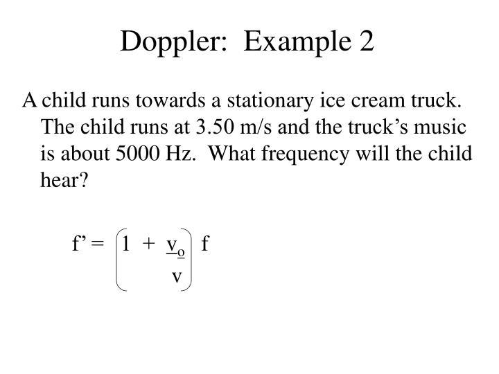 Doppler:  Example 2