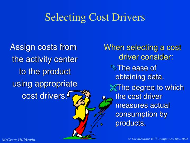 Assign costs from the activity center to the product using appropriate cost drivers.