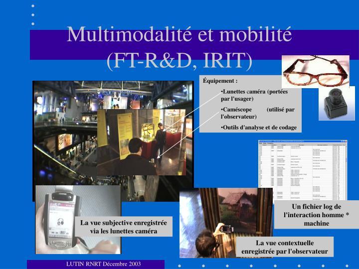 Multimodalité et mobilité