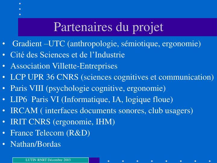 Partenaires du projet