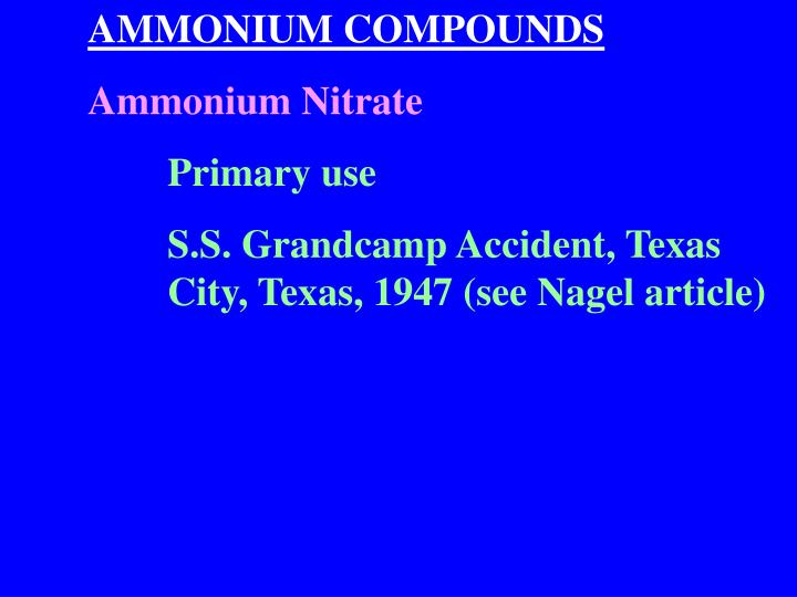 AMMONIUM COMPOUNDS