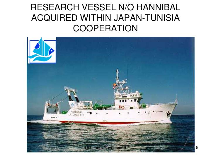 RESEARCH VESSEL N/O HANNIBAL