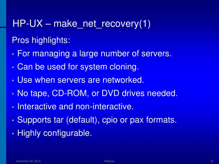 HP-UX – make_net_recovery(1)