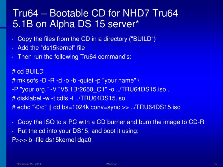 Tru64 – Bootable CD for