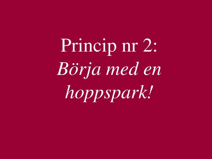 Princip nr 2: