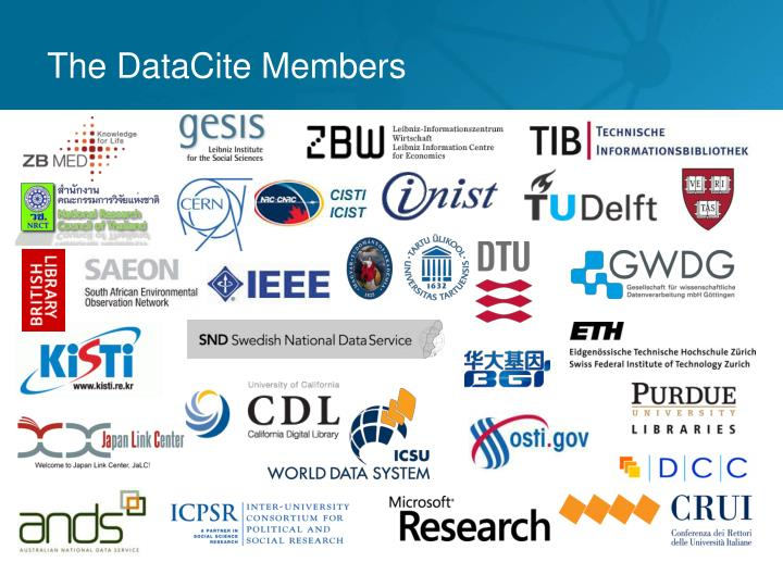 The DataCite Members