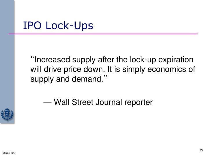 IPO Lock-Ups