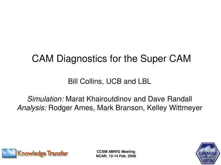 CAM Diagnostics for the Super CAM
