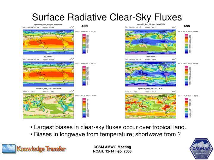 Surface Radiative Clear-Sky Fluxes