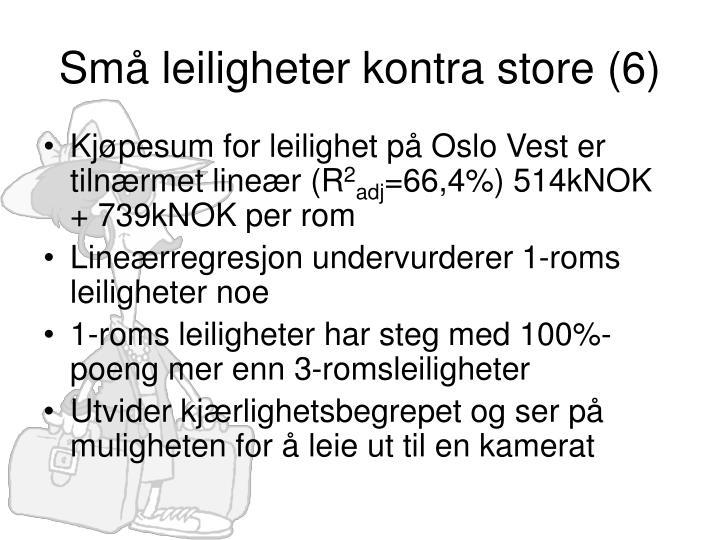 Små leiligheter kontra store (6)