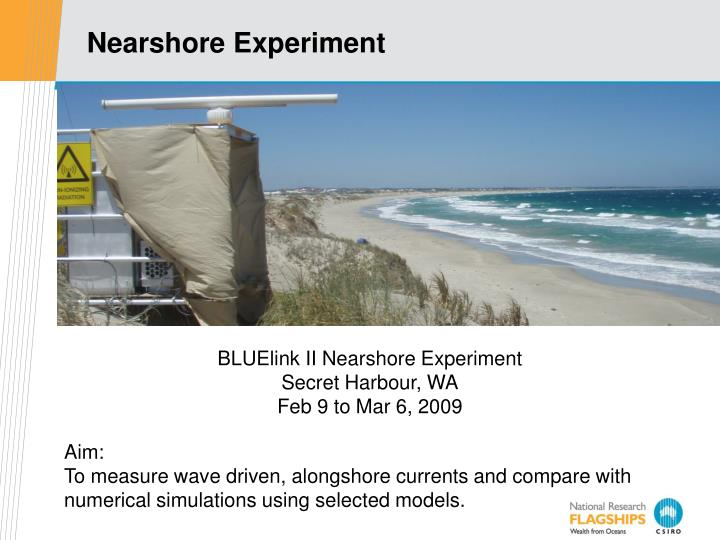Nearshore Experiment