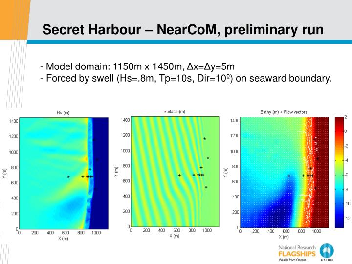 Secret Harbour – NearCoM, preliminary run