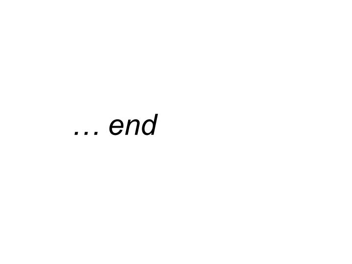 … end
