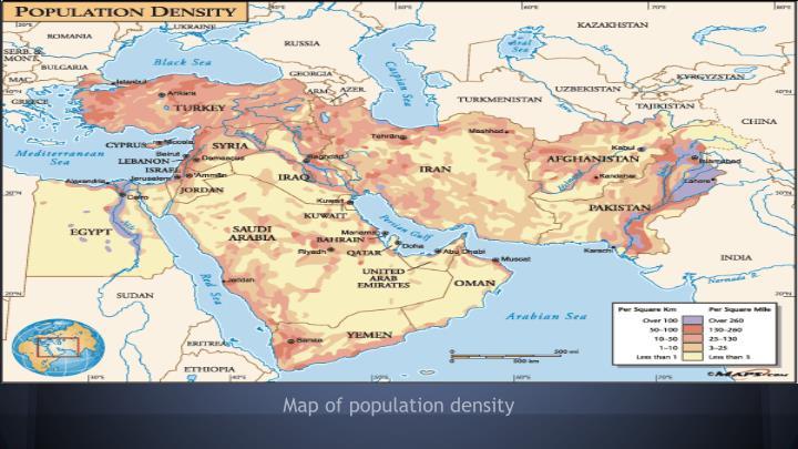 Map of population density