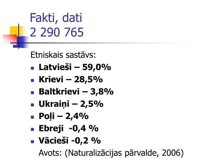 Fakti, dati