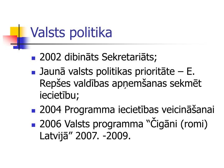 Valsts politika