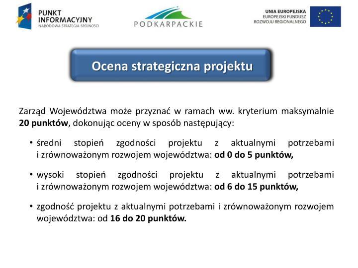 Ocena strategiczna projektu