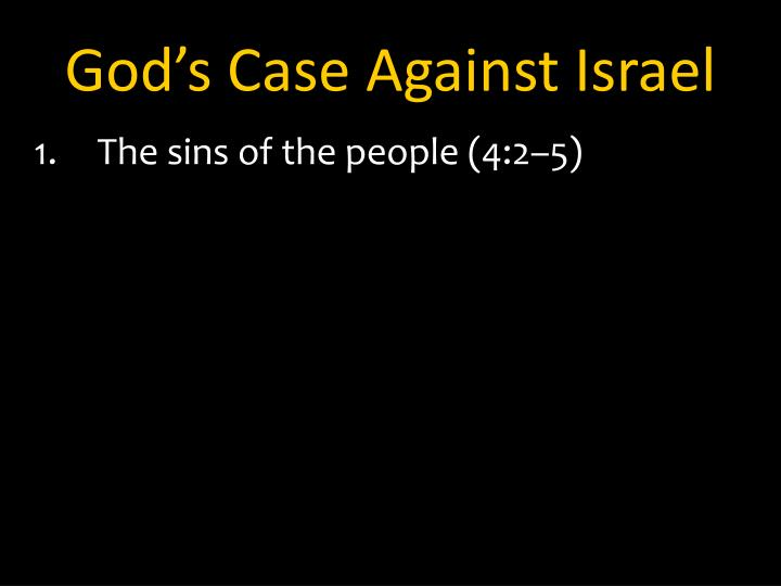 God's Case Against Israel
