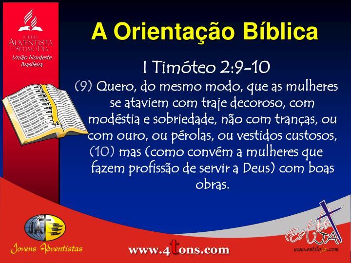 A Orientação Bíblica