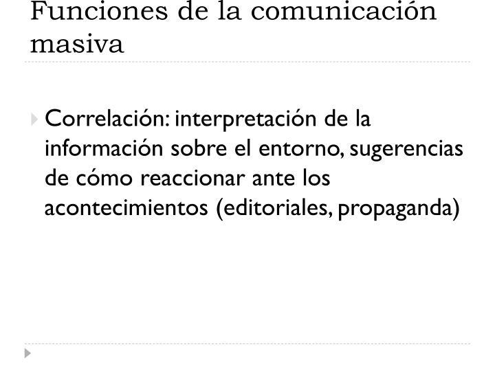 Funciones de la comunicación masiva
