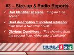 3 size up radio reports11