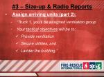 3 size up radio reports15