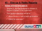 3 size up radio reports16