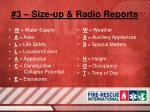 3 size up radio reports3