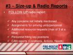 3 size up radio reports7
