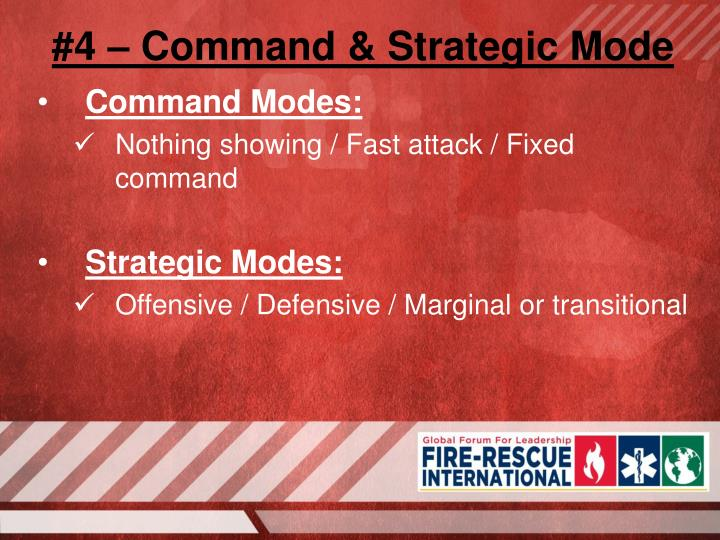 #4 – Command & Strategic Mode