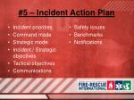 5 incident action plan