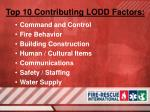 top 10 contributing lodd factors