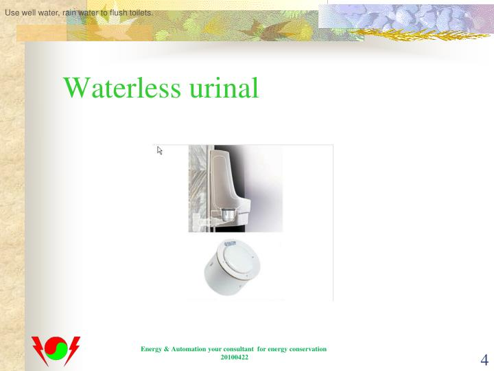 Use well water, rain water to flush toilets.
