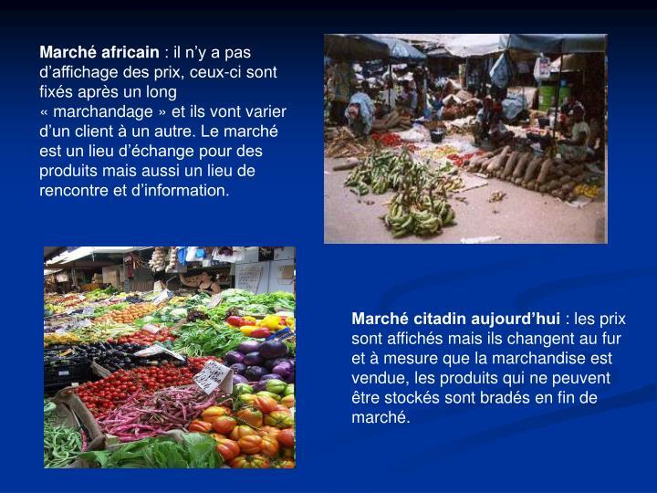 Marché africain