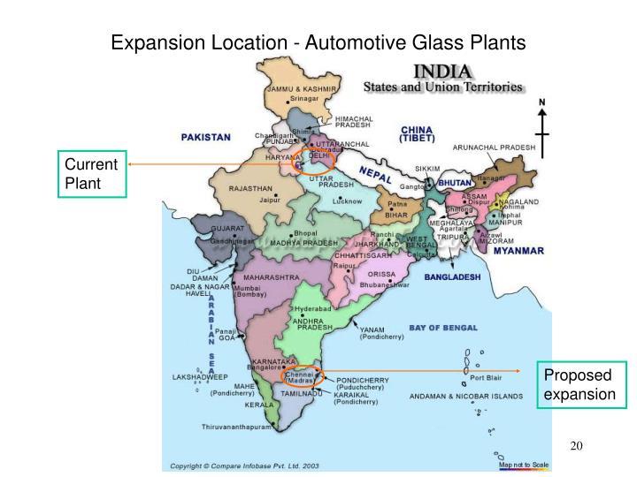 Expansion Location - Automotive Glass Plants