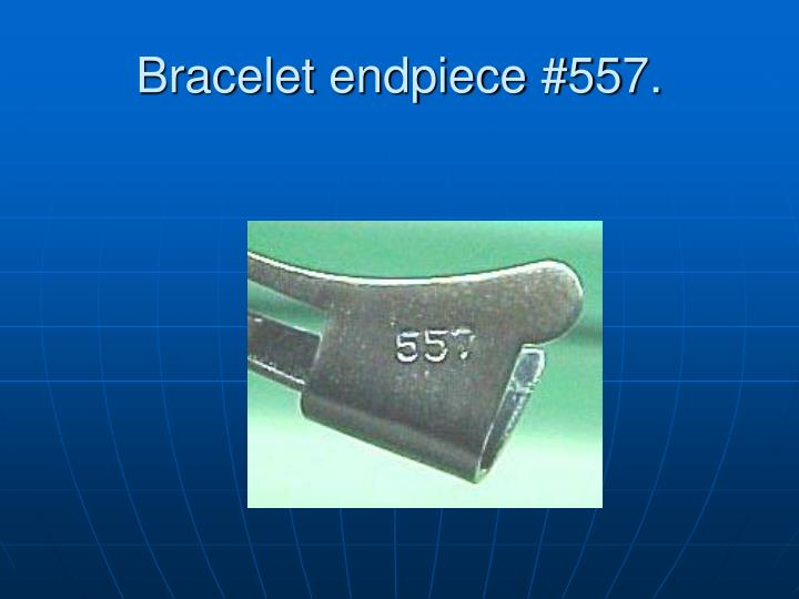 Bracelet endpiece #557.