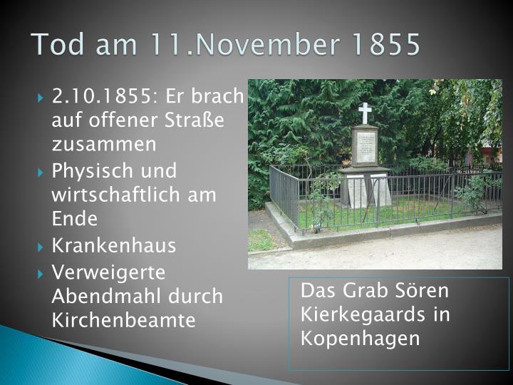 Tod am 11.November 1855