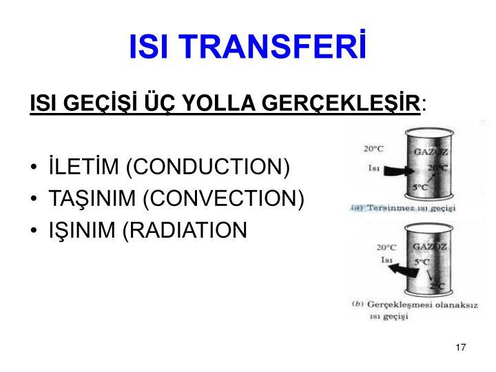 ISI TRANSFERİ