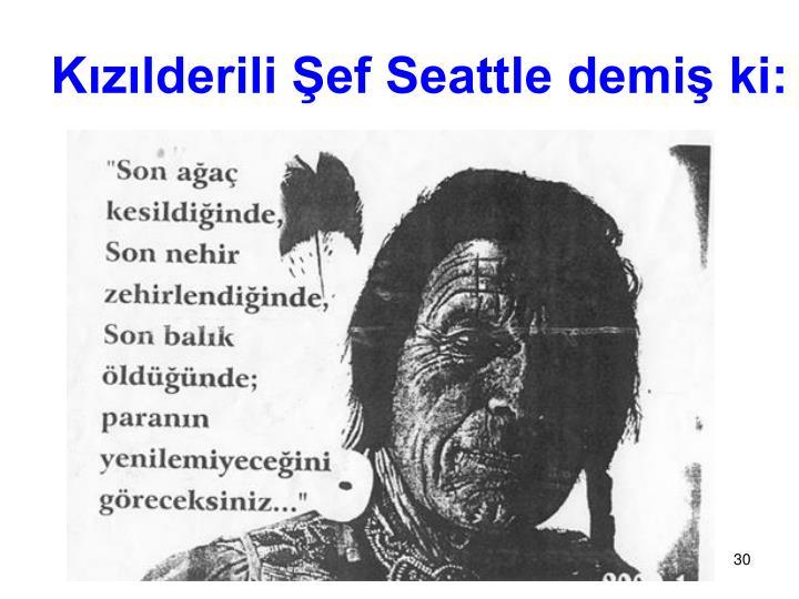 Kızılderili Şef Seattle demiş ki: