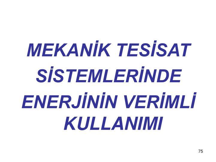 MEKANİK TESİSAT