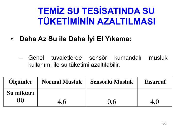 TEMİZ SU TESİSATINDA SU