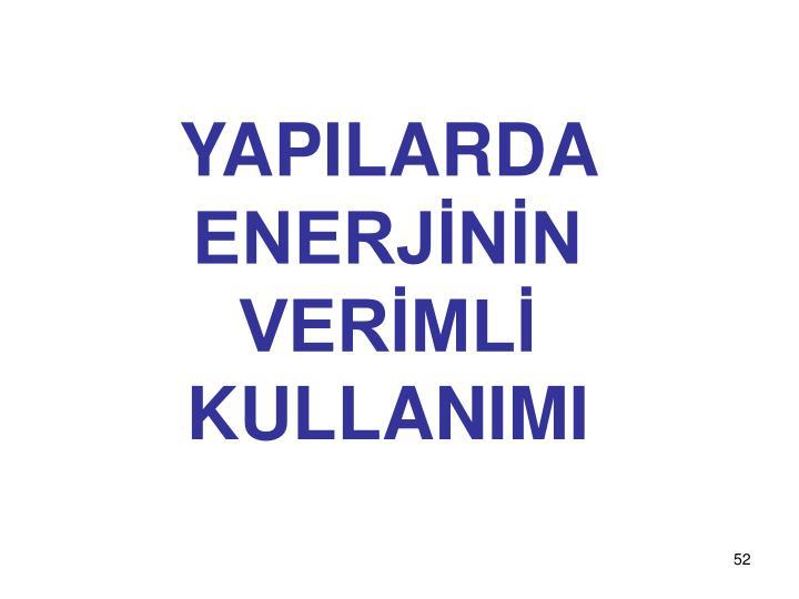 YAPILARDA