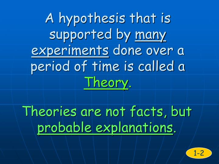 A hypothesis that is supported by