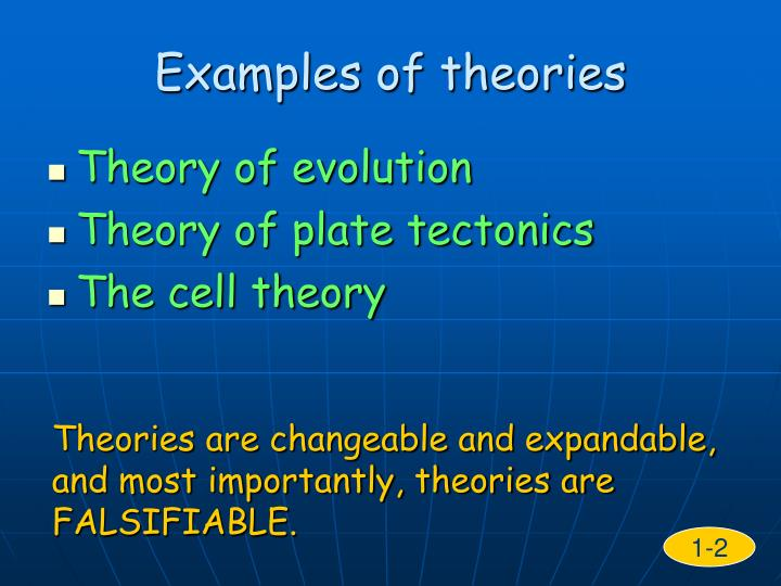 Examples of theories