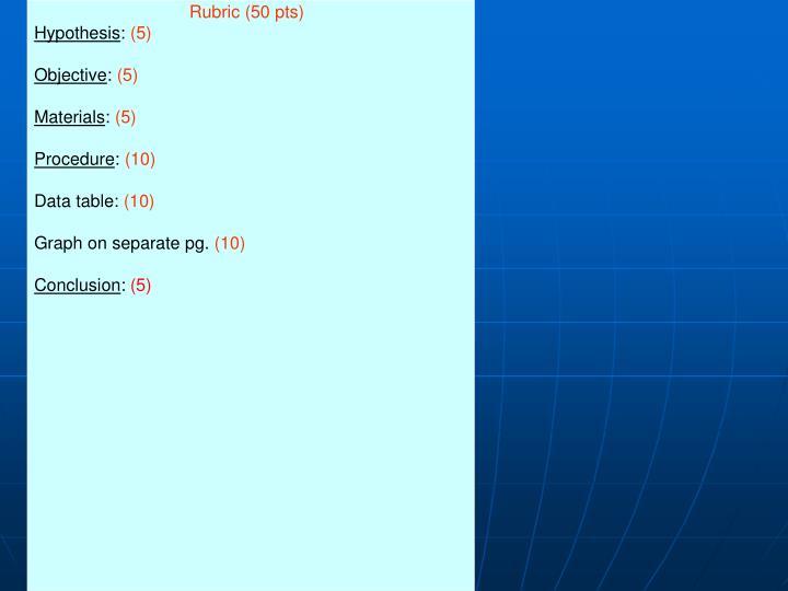 Rubric (50 pts)